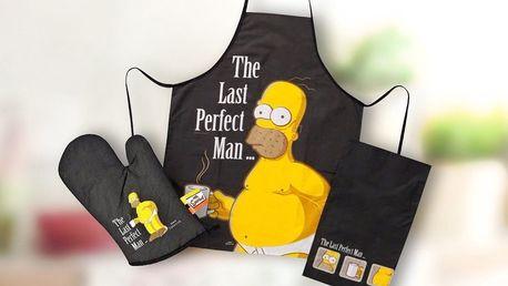 S Homerem Simpsonem v kuchyni - oficiální set zástěry, chňapky a utěrky