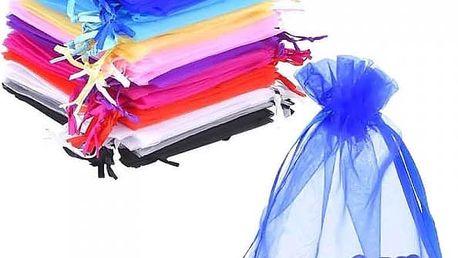 Sada barevných sáčků z organzy - 50 kusů - skladovka - poštovné zdarma