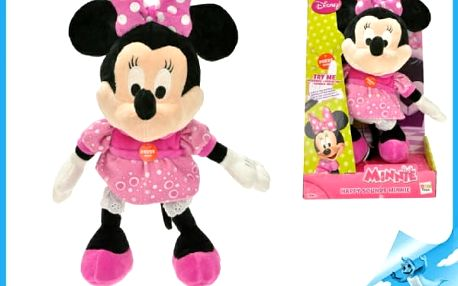 Minnie plyš 33cm na baterie 3xAG13 se smíchem v krabici od 18 měsíců Walt Disney