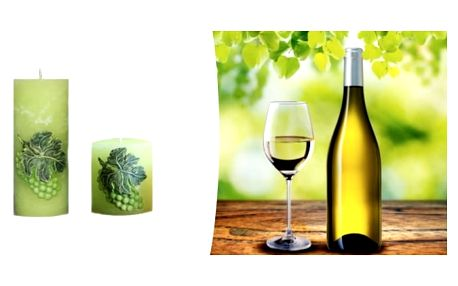 Vytvořte si příjemnou atmosféru u sklenky vína s tématickou vonnou svíčkou.
