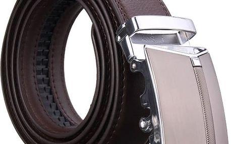 Elegantní pánský opasek s kovovou přezkou - poštovné zdarma