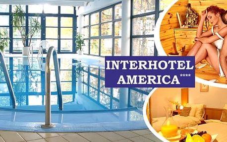 Wellness pobyt pro 2 osoby na 3 dny ve 4* Interhotelu America v Písku. Vstup do wellness centra - bazén s protiproudem, sauna a fitness. V ceně sladké překvapení, cyklomapa Písecka, mapa centra Písku, zapůjčení sportovních potřeb a další slevy.