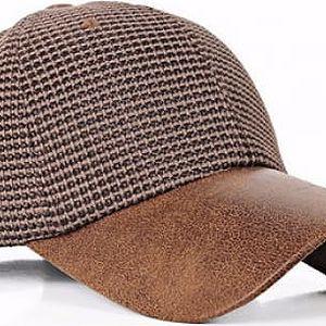 Baseballová čepice s koženkovým kšiltem