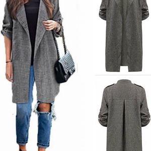 Dlouhý dámský kabátek Jane