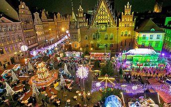 Zájezd do kouzelné vánoční Wroclawi pro JEDNOHO – odjezdy z mnoha měst