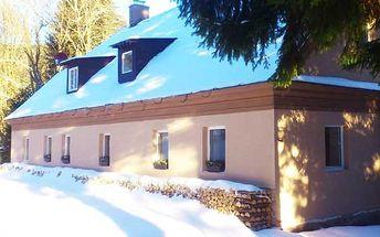 Užijte si zimu v Jeseníkách v malebné chatě Marion