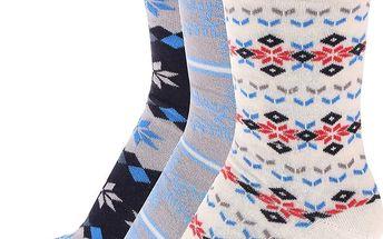 Barevné ponožky s vločkami v sadě tří párů OJJU