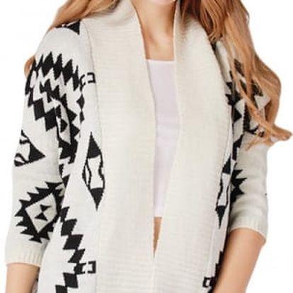 Dámský pletený kardigan s aztéckým vzorem pro chladné podzimní dny! - VÝPRODEJ