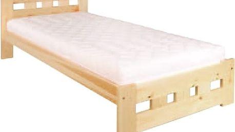 Dřevěná postel 90x200 LK145 borovice
