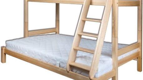 Dřevěná postel 90-140x200 LK155 borovice