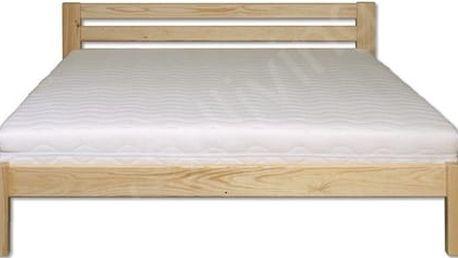 Dřevěná postel 120x200 LK105 borovice