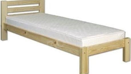 Dřevěná postel 100x200 LK127 borovice