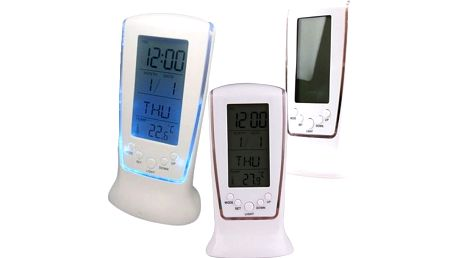 Hodiny s LCD displejem a LED podsvícením