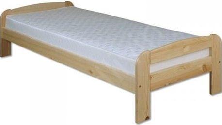 Dřevěná postel 80x200 LK122 borovice