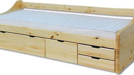 Dřevěná postel 90x200 LK131 borovice