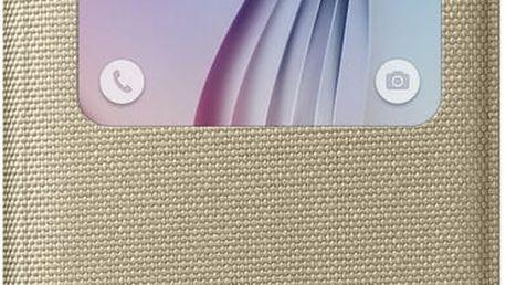 Samsung pouzdro S View EF-CG920B pro Galaxy S6 (G920), zlatá - EF-CG920BFEGWW
