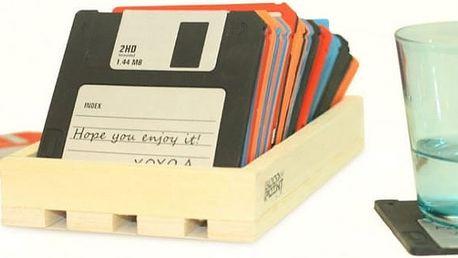 Retro podtácky disketa - 6ks