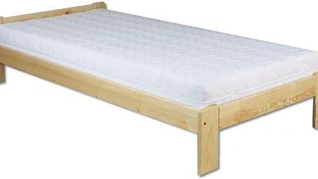 Dřevěná postel 90x200 LK123 borovice