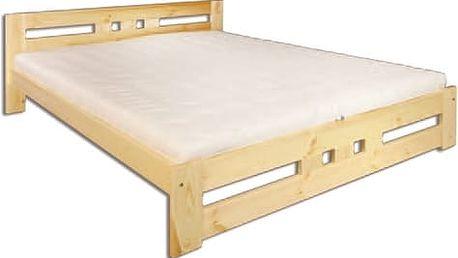 Dřevěná postel 140x200 LK117 borovice