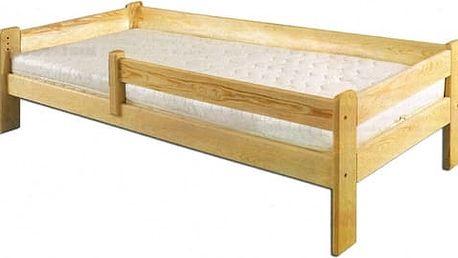 Dřevěná postel 90x200 LK137 borovice