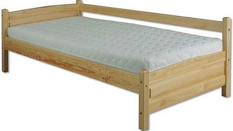 Dřevěná postel 90x200 LK133 borovice