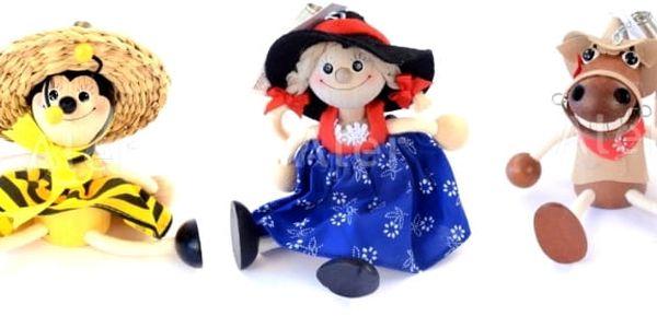 Houpací hračky na pružině, na výběr z několika zvířátek a postaviček. Dřevěné figurky na pružině pobaví děti každého věku. Menší děti si na něm mohou procvičovat úchop, motorické dovednosti a postřeh, větší děti vždy zaručeně rozesměje.