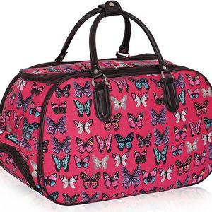Dámská cestovní taška Butterfly 308A korálová