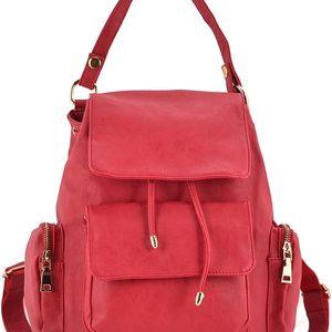 Dámský červený batoh Evelyne 5046