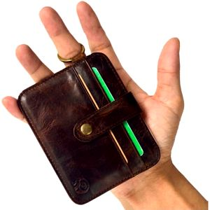 Praktická koženková peněženka na karty a klíče