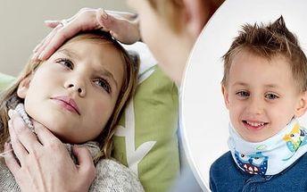 Zábalový pás na krk proti bolesti a škrábání v krku - 5 velikostí pro děti i dospělé