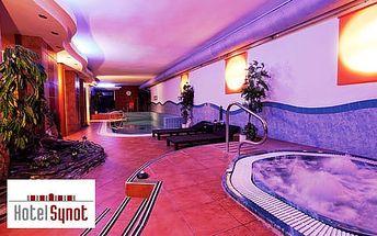 3denní wellness pobyt pro dva v Hotelu Synot s polopenzí, neomezeným bazénem, whirlpool a saunou, platnost až do 30. 6. 2017