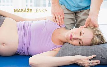 Masáž pro těhotné - 30min. masáž zad vsedě či 60min. masáž nohou, zad a rukou