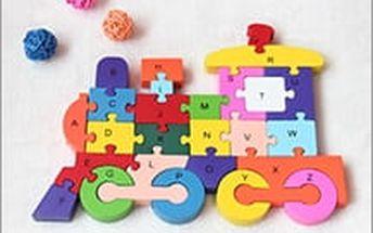 Dřevěné vzdělávací puzzle rozvíjí představivost i jemnou motoriku. Vyberte si z 5 různých motivů!