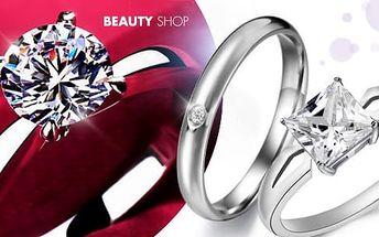 Prsteny s kubickým zirkonem, výběr z několika druhů i průměrů šperku vč. pošty