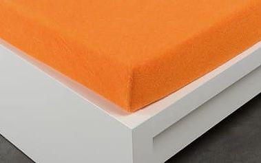 XPOSE ® Froté prostěradlo dvoulůžko - oranžová 180x200 cm