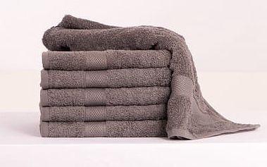 XPOSE ® Froté ručník DARIA - šedá 50x100 cm