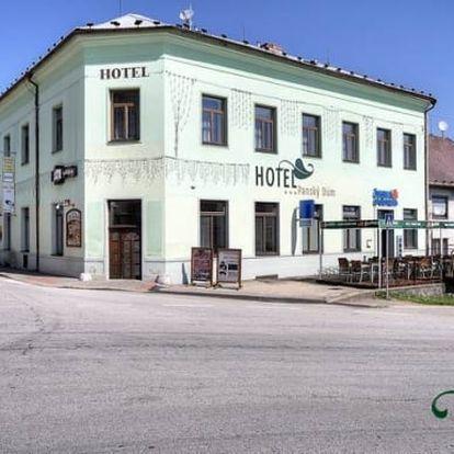 Šumava, Hotel Panský Dům*** na 3 dny pro dva. Polopenze, sauna a Lipno karta na slevy