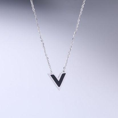 """Fashion Icon Přívěsek s řetízkem Steel """"V"""" chirurgická ocel"""