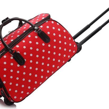 Dámská cestovní taška Esmme 308D červená