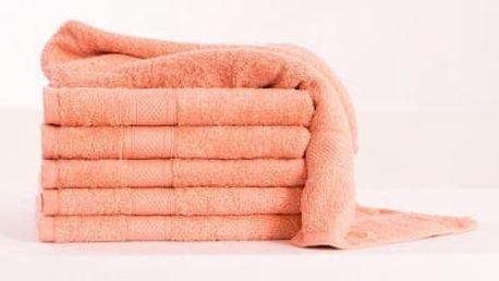 XPOSE ® Froté ručník DARIA - lososová 50x100 cm