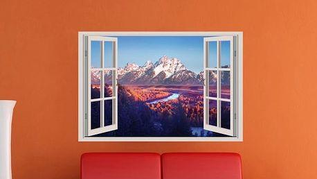 Samolepka na zeď - Východ slunce na horách - poštovné zdarma