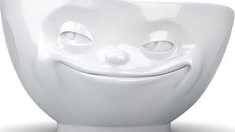 Usměvavá miska 58products, bílá
