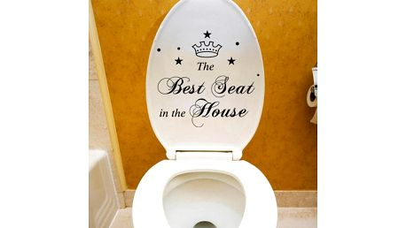 Vtipná samolepka na wc - nejlepší posezení v domě
