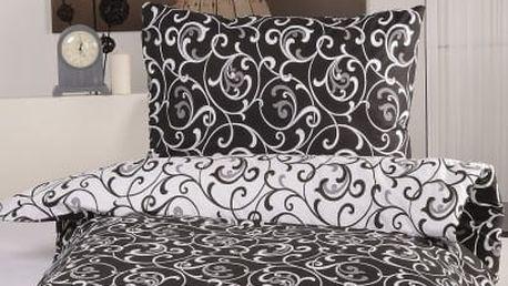 XPOSE ® Bavlněné povlečení ELIZABETH DUO EXCLUSIVE - černá 140x200, 70x90
