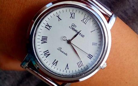 Decentní dámské hodinky ve stříbrné barvě - dodání do 2 dnů