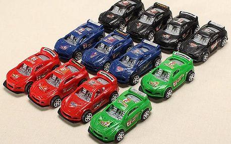 Závodní autíčka - set 12 ks