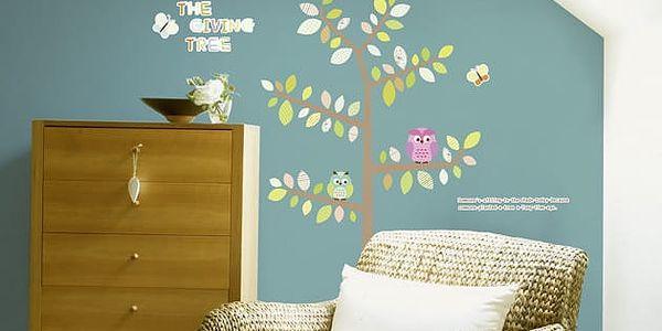 Samolepka Ambiance Owls Butterflies