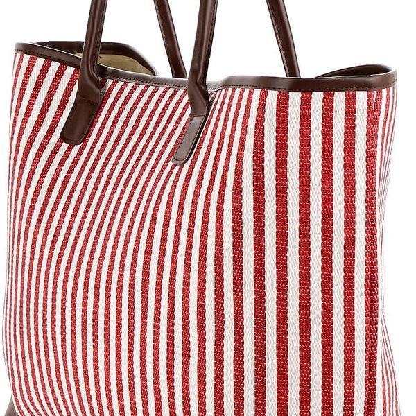 Dámská pletená taška s proužky