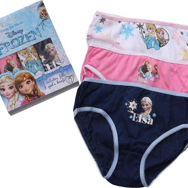 Dívčí kalhotky Disney Frozen - 3 Ks vel. 4 - 5 let, 104 - 110 cm