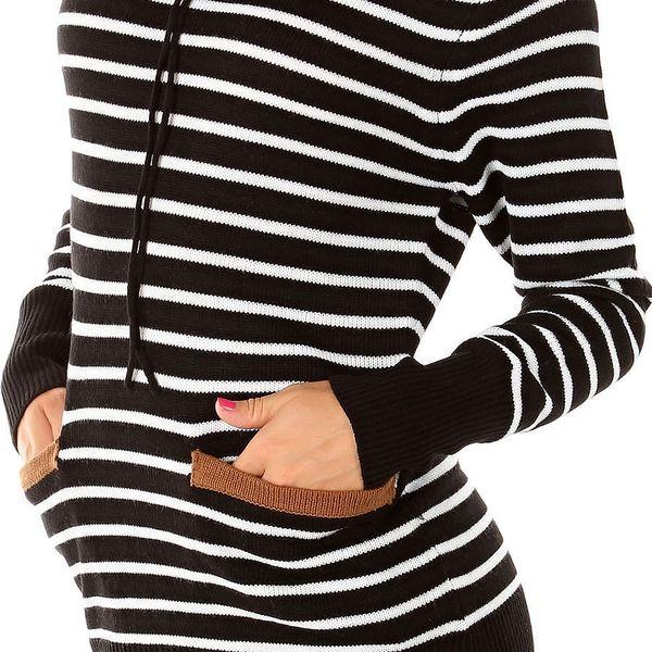 Dámský ležérní svetr s kapucí HHG vel. L